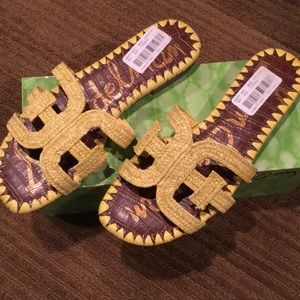 Sam Edelman Becky lemon raffia sandal